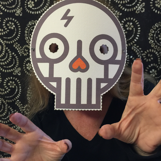 Boo! Printable Paper Mask